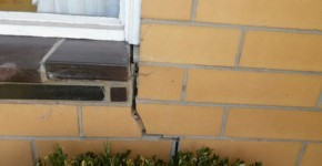 cracked brickwork